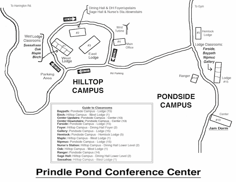 prindle pond campus map